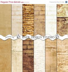 This is my instant download Natural and Rustic Brick and Stone digital papers in natural white, tan, brown backgrounds. These papers are perfect