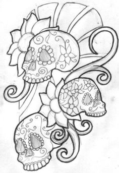 mexican skull women art | Best skulls tattoo design can be embedded on women's arms, back and