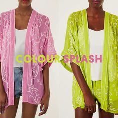 Kimonos go neon. What's you favourite? Searing lime or vivid pink?