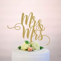 mr and mrs : wedding cake topper by leannemadeline on Etsy