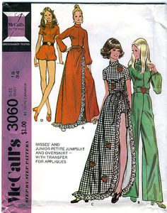 McCall's 3060 Vintage 70s Misses' Jumpsuit and by retrowithlana, $10.00