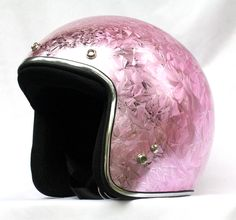 Masei Pink Ice Chrome 610 Open Face Motorcycle Helmet Free Shipping Worldwide for Harley Davidson & Chopper Bikers $120