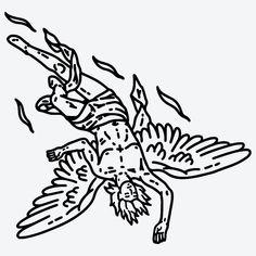 Simbols Tattoo, Doodle Tattoo, Tattoo Signs, Demon Tattoo, Traditional Tattoo Black And White, Traditional Tattoo Art, Neo Traditional, American Traditional, Gangsta Tattoos