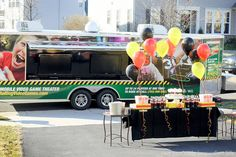 Video game truck birthday party