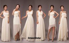 Champagne Bridesmaid Dress - Ivory Bridesmaid Dress / Long Bridesmaid Dress / Champagne bridesmaid Gowns / Chiffon Bridesmaid Dress on Etsy, $99.99