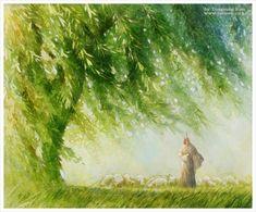 Jesus the good Shepherd. Beautiful Painting by Yongsung Kim Paintings Of Christ, Jesus Painting, Lord Is My Shepherd, The Good Shepherd, Jesus Art, Jesus Book, Pictures Of Christ, Christian Artwork, Jesus Christus