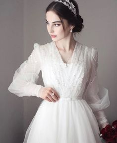 Turkish Wedding Dress, Muslim Wedding Gown, Plain Wedding Dress, Civil Wedding Dresses, White Bridal Dresses, Grey Prom Dress, Muslim Wedding Dresses, Modest Dresses, Elegant Dresses