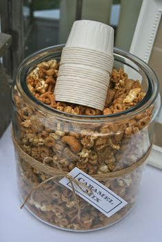bloom designs: Fall Party Idea- Chili Under the Oaks. KJ - put all the chili condiments in jars and maybe a yellow ribbon or yellow lace around it.