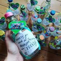 ©Lise: Personal message in a bottle als cadeautje op het einde van het schooljaar