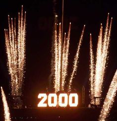 When the ball dropped and we entered the new millennium.