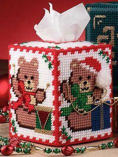 Plastic Canvas Bear Patterns | teddy bear tissue cover technique plastic canvas teddy bears are the ...
