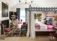 More than 24 designers collaborated to create cohesive yet daring retreats in the 2017 Hampton Designer Showhouse Interior Design Boards, Yellow Interior, Pretty Bedroom, Family Room Design, Master Bedroom Design, Traditional House, House Colors, The Hamptons, Sweet Home