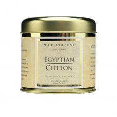 Fragrant Escapes Egyptian Cotton Candle Tin | Wax Lyrical