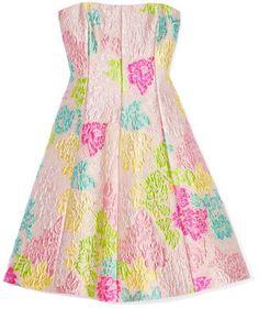 Strapless Dress w A Line Hem