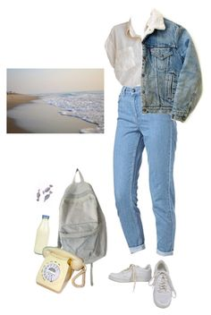 """bells"" by paper-freckles ❤ liked on Polyvore featuring Topshop, Levi's, NIKE and American Apparel"