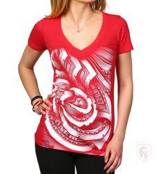OGABEL.COM - Money Rose 014 RED V-Neck, $23.95 (http://www.shopogabel.com/money-rose-014-red-v-neck/)