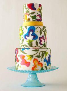 Beautiful modern wedding cake