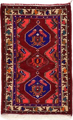 Red 8 x 2 Hamedan Persian Rug Small Rugs, Persian Rug, Bohemian Rug, Area Rugs, Red, Runners, Home Decor, Living Room, Persian Carpet