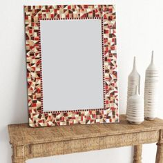 Decorative Mosaic Wall Mirror Mosaic Mirrors, Mosaic Wall, Wall Mirror, Mosaic Tiles, Beige Paint, Green Street, Bathroom Colors, Earth Tones, Swirls