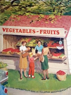 vegie & fruit stand...