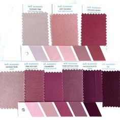 Soft Summer Color Palette, Summer Colors, Seasonal Color Analysis, Color Plan, Braut Make-up, Soft Autumn, Summer Skin, Season Colors, Fabric Swatches