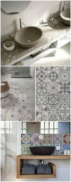 piastrelle per bagno diverse stile anticato con decorazioni arredo - ikea sideboard k amp uuml che