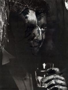 Baile de máscaras 2014 - Solvent on paper Image: 38 x 29 cm. Framed: 55 x 45 cm.  Work framed with passe-partout and black wood frame