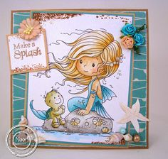 Make a Splash Whimsy Stamps, Digi Stamps, Magnolia, Copic Marker Art, Tiddly Inks, Handmade Stamps, Hobby House, Mermaids And Mermen, Beach Crafts