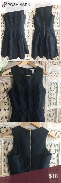 "[H&M] black lace cocktail dress size 4 [H&M] black lace cocktail dress size 4. Very good condition. Exposed zipper. Across chest about 15"". Dress length about 34"". Fully lined. It will become your ""go to"" little black dress. Everyone needs one of these dresses in their closets for those ""what to wear"" moments. You can dress it up or dress it down depending on the occasion H&M Dresses"