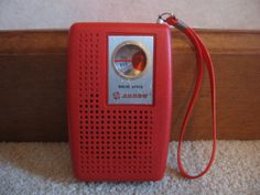Transistor Radio- Had one exactly like this except it was Electric Blue. I would put it under my pillow every night to listen to it.... But also to keep my Brother from snagging it!