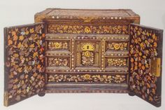 Cabinet in Namban style, c.1610-1630. Lacquered wood inlaid with mother-of-pearl