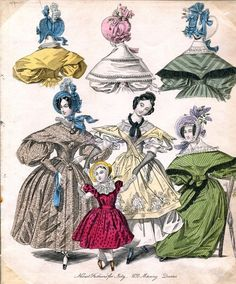 1833 Women's Hats and Dresses