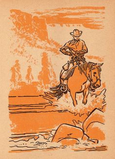 Alex Toth illustration from Maverick Whitman book, 1959.