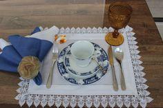 Posicionamento dos itens na mesa de café da manhã