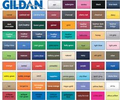 Color Swatches Search For Gildan Colors Usa