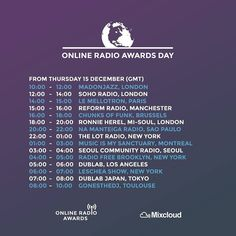 The first Online Radio Awards Day begins tomorrow at 10am GMT. We have the likes of @sohoradio @mimsanctuary @scr_radio and more amazing stations artists and presenters broadcasting live shows throughout the day.  You can watch every show live via the Mixcloud Facebook page at http://ift.tt/1lP8giG  #OnlineRadioAwards