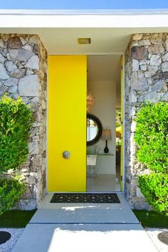 Bright yellow is a cheerful and welcoming color, perfect for a front door.
