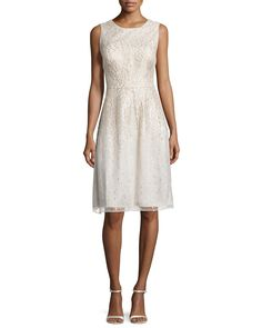 Sleeveless Organza Cocktail Dress