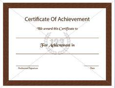 Most Precious Certificate of Achievement Template Free Download #Certificate #Template