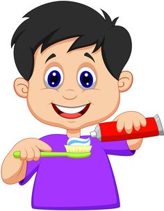 Illustration about Illustration of Kid cartoon squeezing tooth paste on a toothbrush. Illustration of person, dentist, squeeze - 33235736 Activities For Kids, Crafts For Kids, Flashcards For Kids, Dental Kids, School Clipart, Personal Hygiene, Children Images, Cartoon Kids, Drawing For Kids