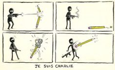 If the pen is mightier than the sword; the pencil is mightier than a machine gun. #JeSuisCharlie
