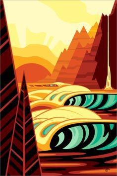 Sun Sets 2 print by Erik Abel