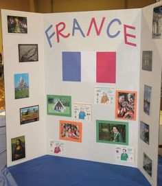 France Booth   Tri Fold Display #World Thinking Day