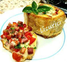Chifle umplute la cuptor Bruschetta, Ethnic Recipes, Food, Essen, Meals, Yemek, Eten