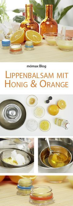 Lippenbalsam mit Orange und Honig selber machen! DIY (Diy Geschenke)