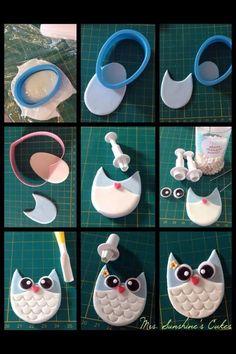 Easy fondant owl More