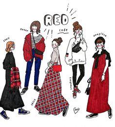 Cute Fashion, Fashion Art, Girl Fashion, Cartoon Outfits, Anime Outfits, Skirt And Sneakers, Fashion Design Sketches, Japan Fashion, School Fashion