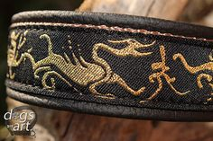 Dog Collar The Dragon by dogs-art celtic hounds celtic dog