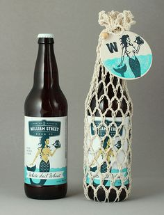William Street Beer Co. White Sail Wheat label design