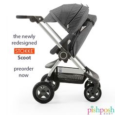 Redesigned chassis. New seat position. Sumptuous colors in fall's hottest hues. Those are just a few reasons to fall in love with the newly redesigned Stokke Scoot!  http://www.pishposhbaby.com/stokke-scoot-v2-stroller-black-melange.html